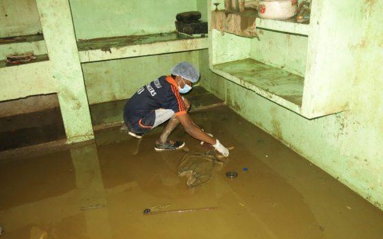 village flooding